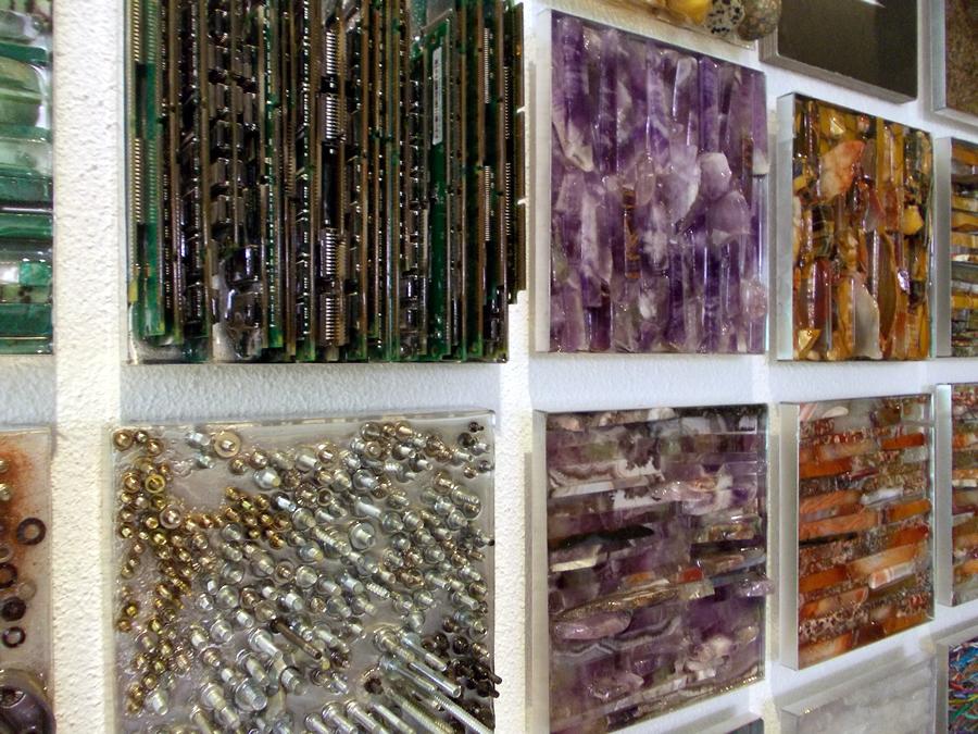 strikje collage muur