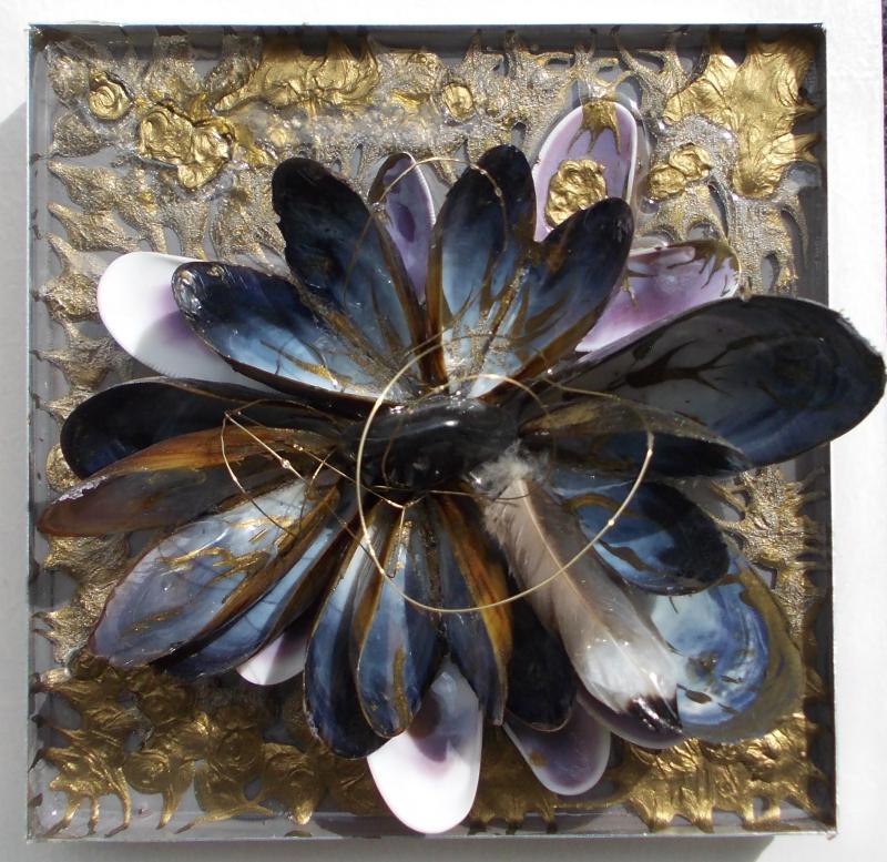 strikje mossel bloem 14x14 cm