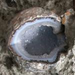 strikje Geode in beton object